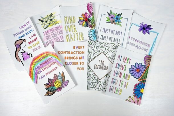 DIY Birth Affirmation Cards